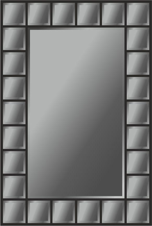 Панно зеркальное: 28 деталей