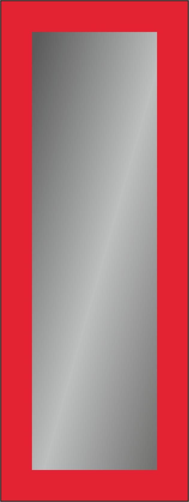 Зеркало прямоугольное  с пескоструйной обработкой  и покраской со стороны амальгамы