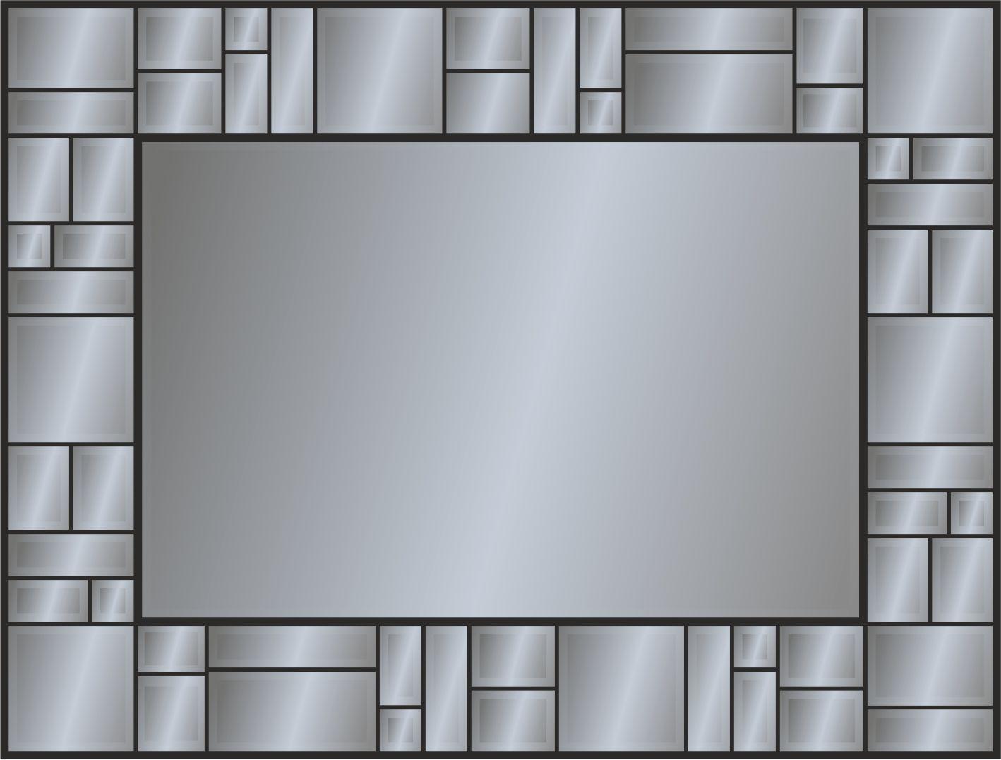 Панно зеркальное: 58 деталей