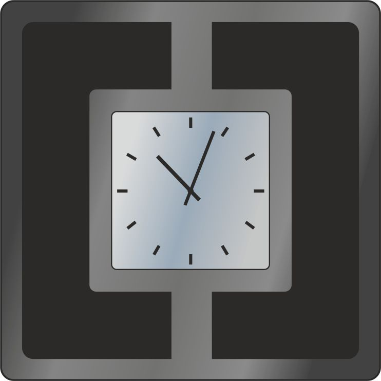 Часы зеркальные
