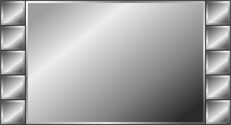 Панно зеркальное: 11 деталей