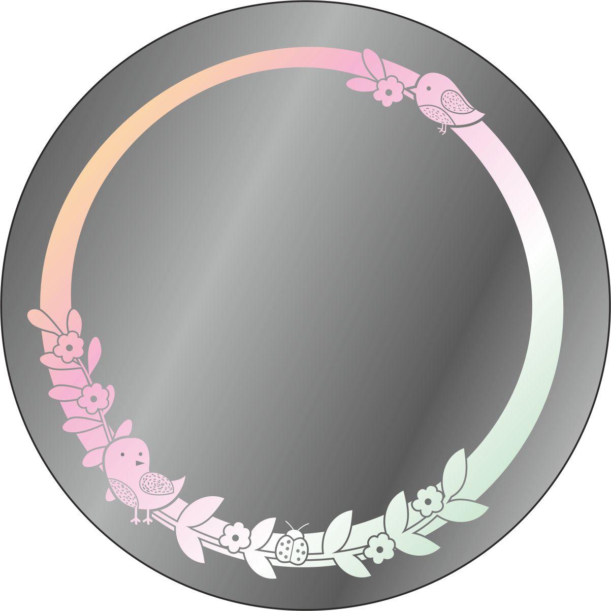 Зеркало-ночник  круглое  с подсветкой  и пескоструйной обработкой